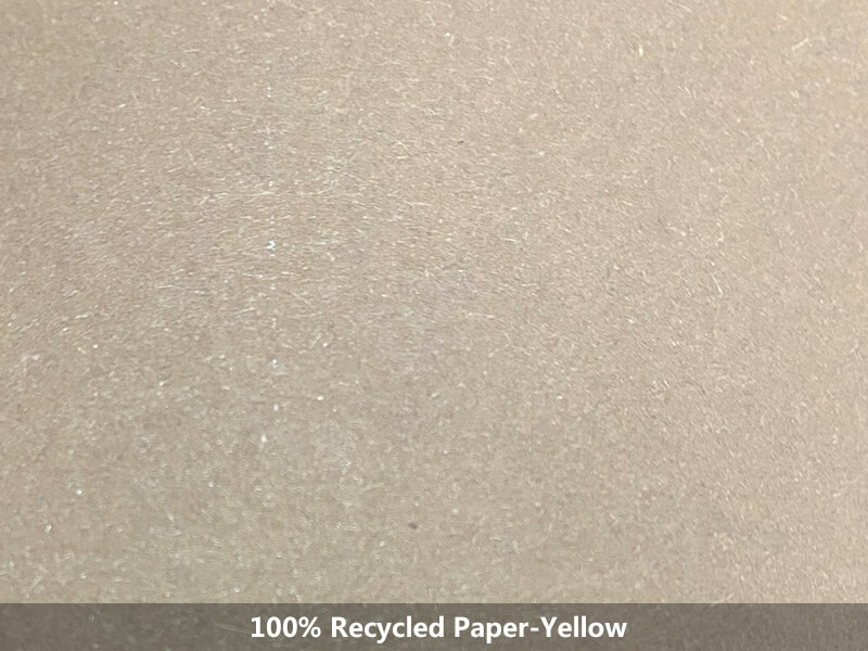 100% recycled paper-yellow