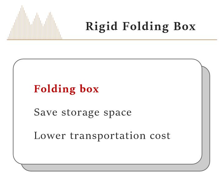 Rigid folding box