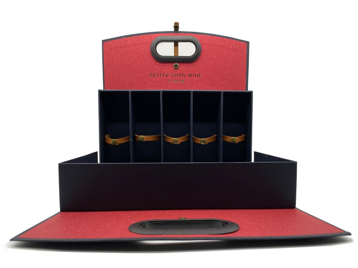 Luxury Wine Box Open Way