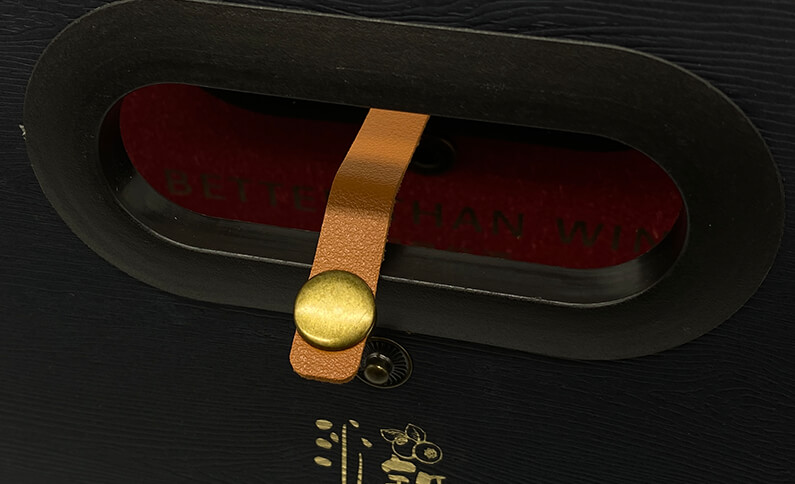 Luxury Wine Box with Leather and Snap button