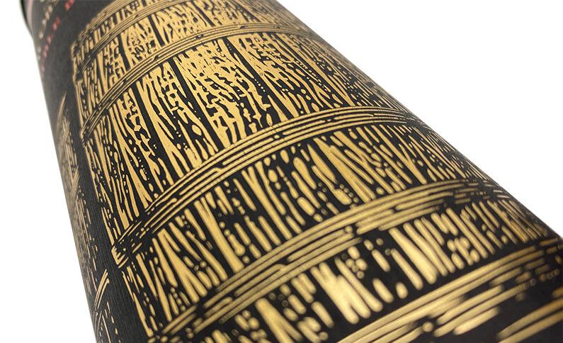 Cylinder Wine Box Hot Stamping Detail