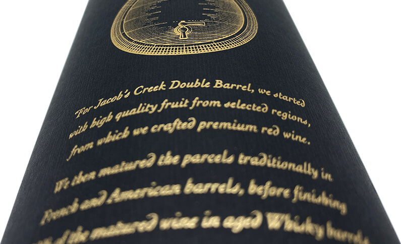 Cylinder Wine Box Logo Hot Stamping