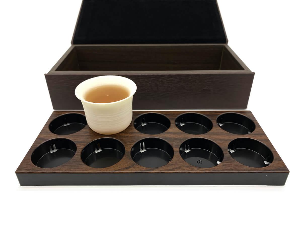 Leather Tea Box Display