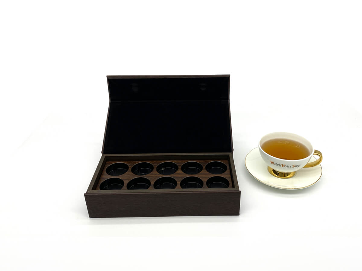 Leather Tea Box Open Way